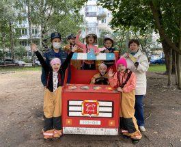 Воспитанники детского сада №51 Василеостровского района приняли участие в детской эстафете «Юные пожарные»