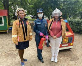 Воспитанники детского сада №21 Василеостровского района приняли участие в детской эстафете «Пожарная станция»